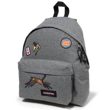 Sac à dos Eastpak Padded Pak'R grey patched
