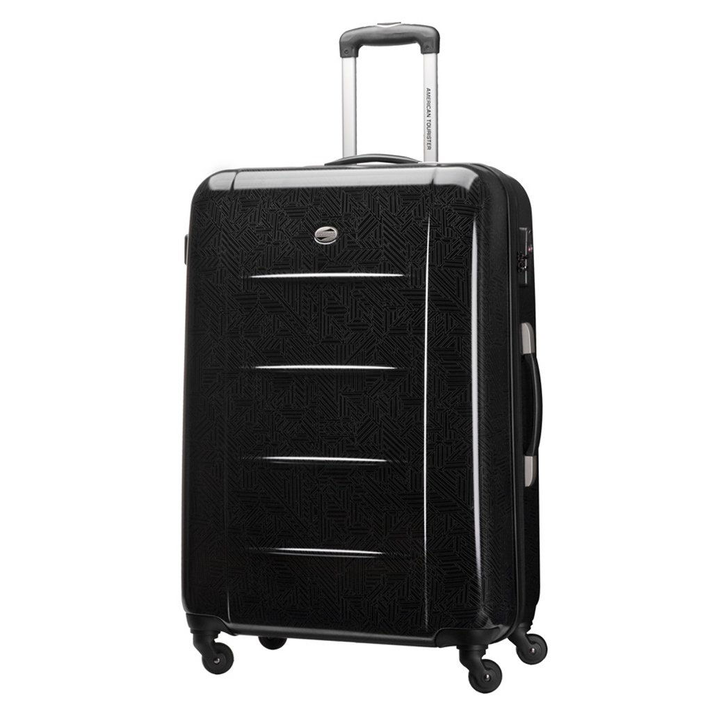 valise spinner expansible 4 roulettes 77 cm american tourister tokyo chic noir print vos. Black Bedroom Furniture Sets. Home Design Ideas