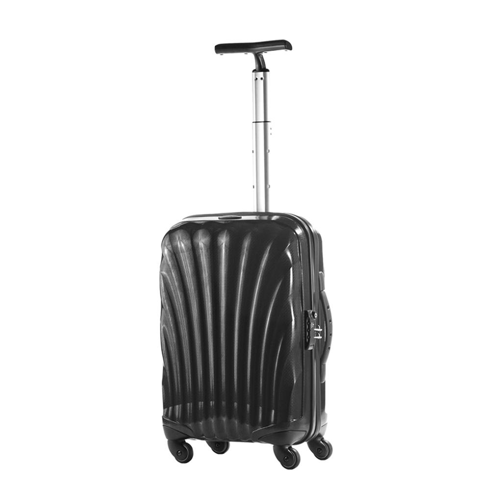 bagage cabine valise spinner 4 roulettes 55 cm samsonite cosmolite noir vos valises. Black Bedroom Furniture Sets. Home Design Ideas