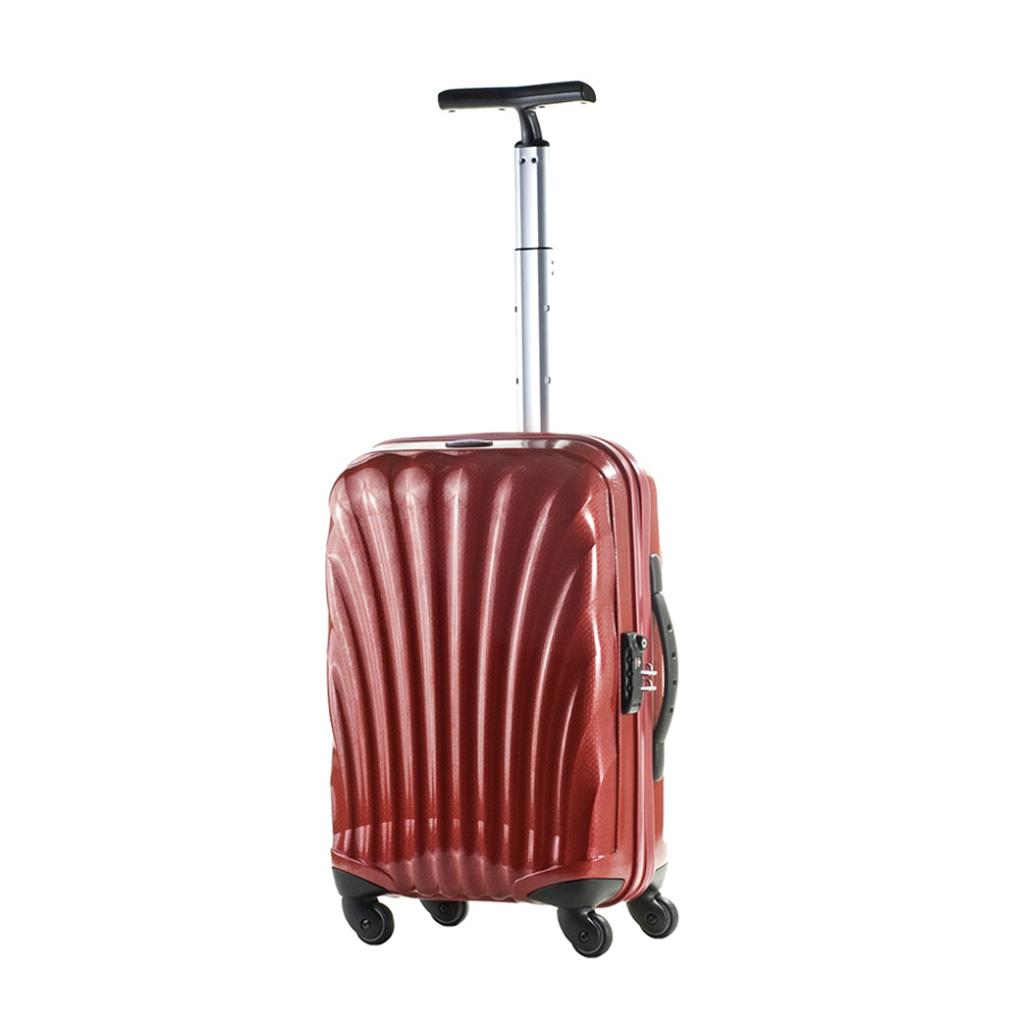 bagage cabine valise spinner 4 roulettes 55 cm samsonite cosmolite rouge vos valises. Black Bedroom Furniture Sets. Home Design Ideas