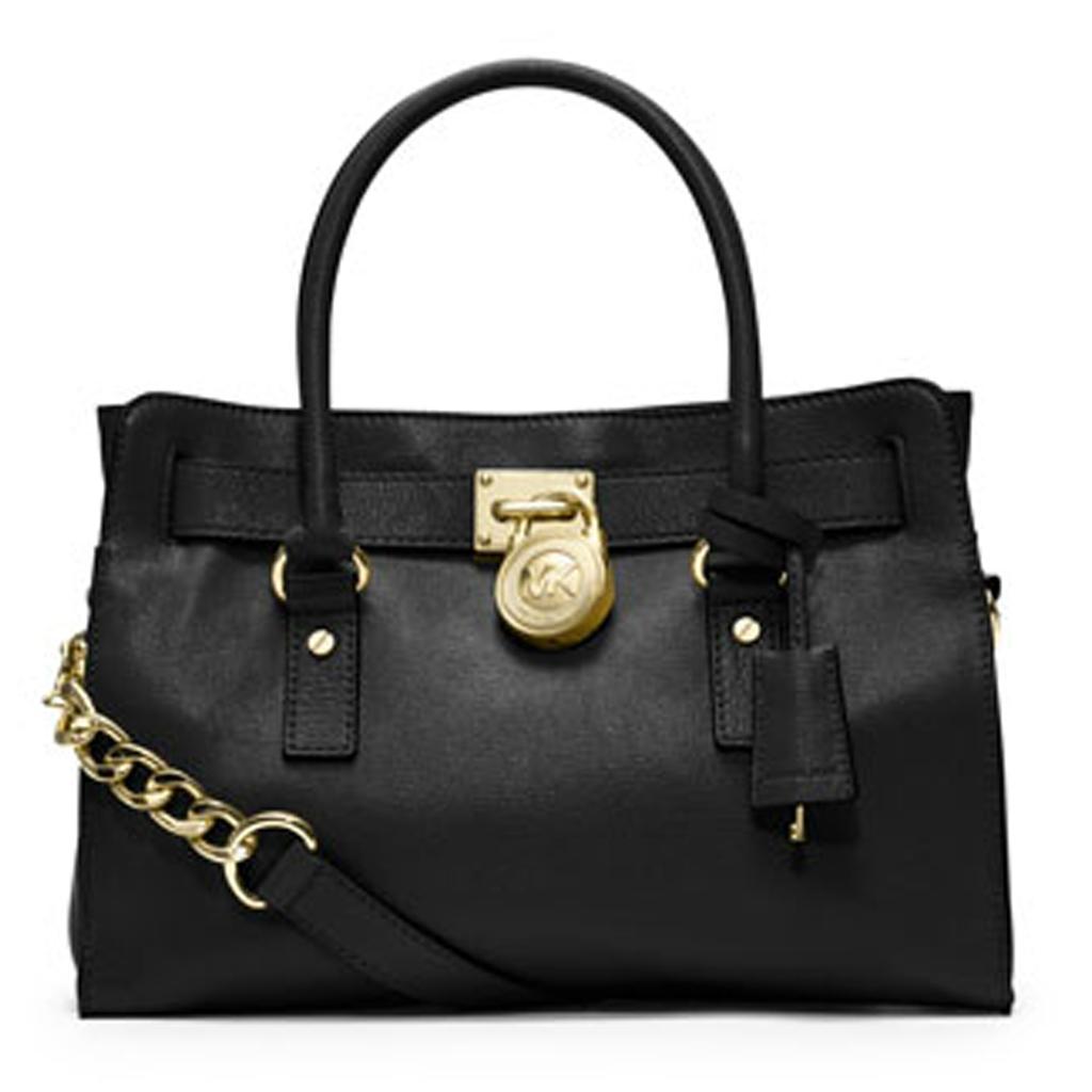 michael kors hamilton satchel noir i michael kors vos valises. Black Bedroom Furniture Sets. Home Design Ideas