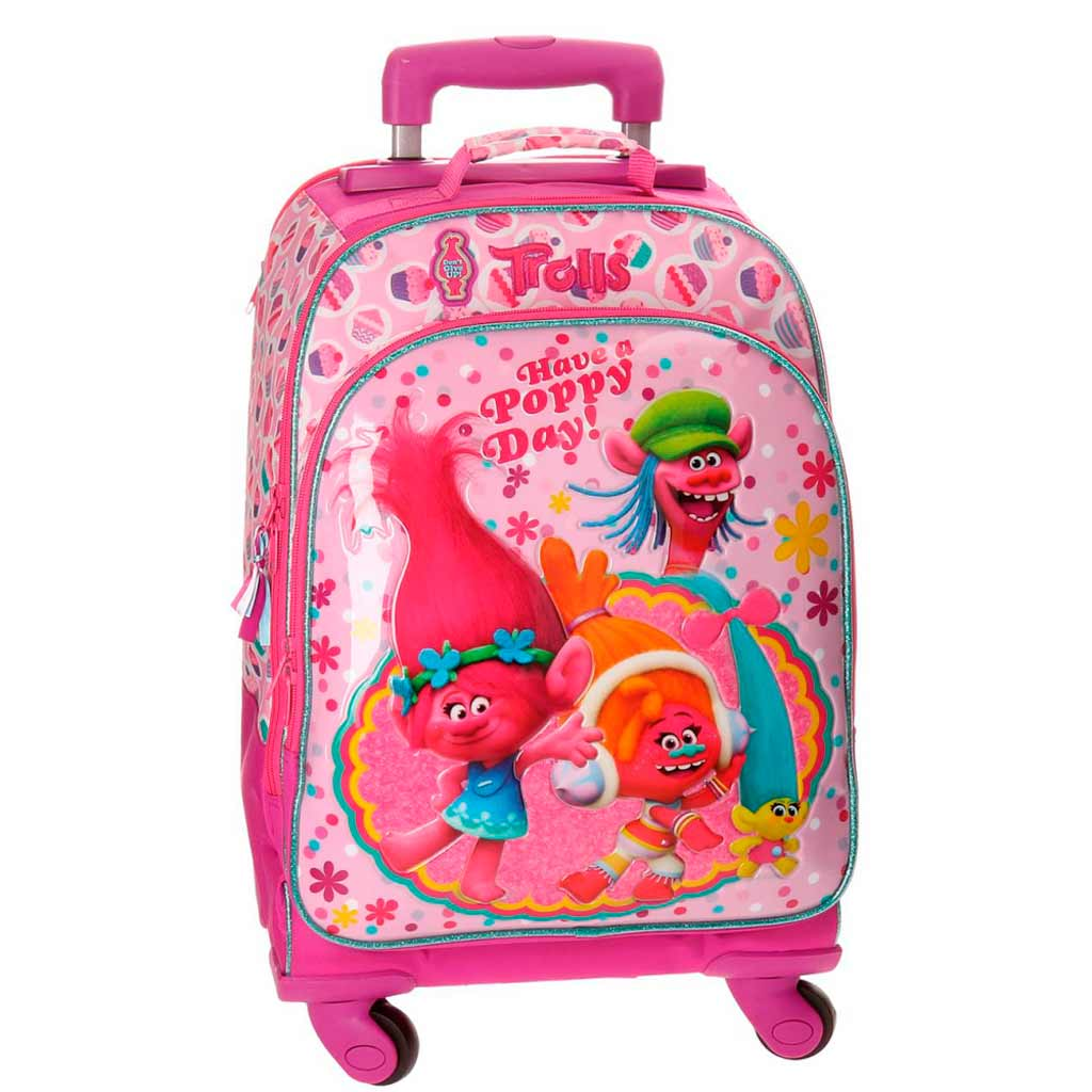 valise sac dos trolls happy 44 cm. Black Bedroom Furniture Sets. Home Design Ideas